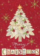 Merry Christmas Tree Christmas Cards, Box of 16