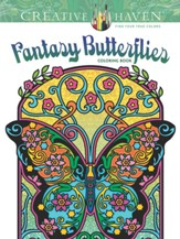 Fantasy Butterflies Adult Coloring Book