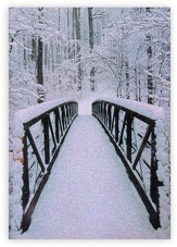 Snow Covered Bridge Christmas Cards, Box of 16