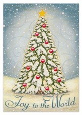 Joy to the World Christmas Tree Christmas Cards, Box of 16