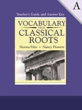 Vocabulary from Classical Roots Book  A, Teacher's Guide and  Answer Key (Homeschool Edition)