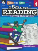 Practice, Assess, Diagnose: 180 Days of Reading for Fourth Grade