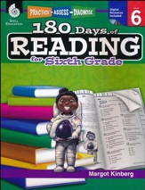Practice, Assess, Diagnose: 180 Days of Reading for Sixth Grade