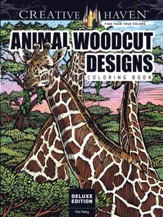 Animal Woodcut Designs Coloring Book