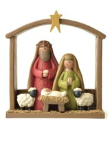 Manger with Holy Family Figurine