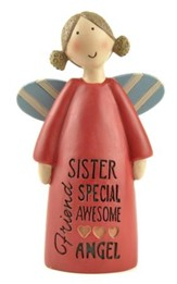 Sister Friend Blessings Angel Figure