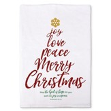 Joy, Love, Peace Kitchen Towel