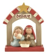 Manger with Star Figurine, Believe
