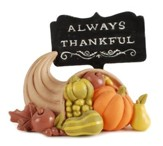 Always Thankful Cornucopia Figurine