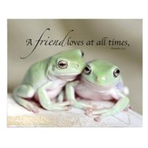 A Friend Loves At All Times, Frogs Magnet, Large