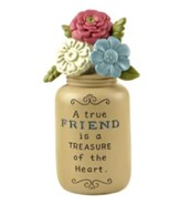 A True Friend is a Treasure of the Heart, Yellow Jar with Flowers