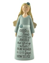 Good Friends Are Angels That Lift Us Up Angel, Blue Dress