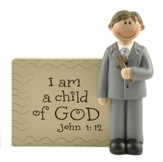 I Am A Child of God, Little Boy, Communion Figurine