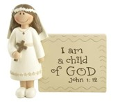 I Am A Child of God, Little Girl, Communion Figurine