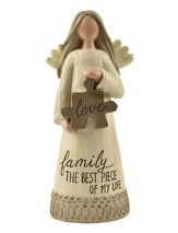 Family is the Best Piece of My Life Angel Figurine