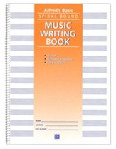 Alfred's Basic Spiral-Bound Music Writing Book, 12 Staves, 64 pages