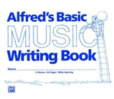 Alfred's Basic Music Writing Book, Wide-lined, 24 pages