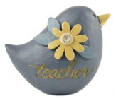 Teacher, Blue Bird with Flower Figurine