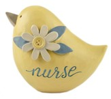 Nurse, Yellow Bird with Flower Figurine