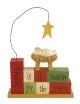 Jesus Is the Reason For the Season, Stacked Blocks Figure