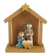 Smiling Family Nativity Figure
