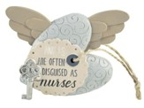 Angels Are Often Disguised as Nurses Heart with Key and Wings