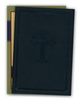 NASB Large Print Compact Leathertex Bible - Black