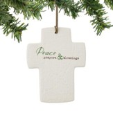 Peace, Prayers, And Blessings, Cross Ornament