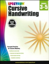 Spectrum Cursive Handwriting, 2015 Edition - Grades 3 to 5