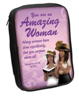 Amazing Woman Bible Cover Purple