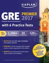 GRE Premier 2017 with 6 Practice Tests: Online + Videos + Mobile + Book - eBook