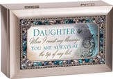 Daughter, When I Count My Blessings, Jeweled Music Box, Silver