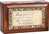 Mom, When God Blessed Me With You, He Answered All My Prayers, Jeweled Music Box
