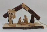 Nativity Scene Grotto with Bark Branches
