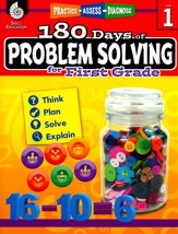 180 Days of Problem Solving for First Grade (Level 1)