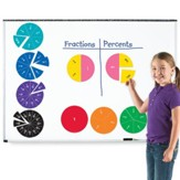 Double-Sided Magnetic Fraction Circles, 9 pieces