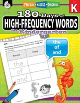 180 Days of High-Frequency Words for Kindergarten (Level K)