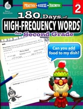 180 Days of High-Frequency Words for  Second Grade (Level 2)