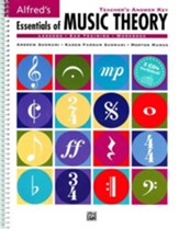 Essentials of Music Theory, Teacher's Answer Key & 2 Ear Training CDs