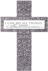 I Can Do All Things Through Christ Tabletop Cross