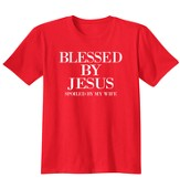 Blessed By Jesus, Shirt, Red, Large