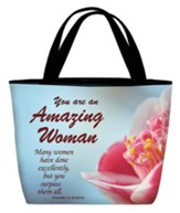 Amazing Woman Tote, Aqua