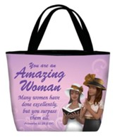 Amazing Woman Tote Purple