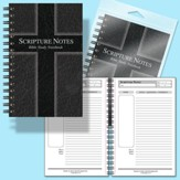 Scripture Notes Bible Study Notebook - Black