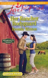 Her Rancher Bodyguard, Large Print