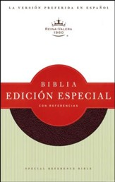 Biblia Especial con Referencias RVR 1960, Piel Fab. Rojiza  (RVR 1960 Special Reference Bible, Bond. Leather Burgundy)