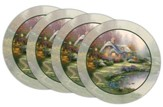 Thomas Kinkade Everett's Cottage Coasters, Set of 4