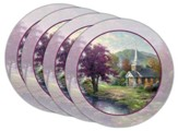 Thomas Kinkade Streams of Living Water Coasters, Set of 4
