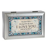 You Have Been A Blessing From the Start, I Love You, Jeweled Silver Music Box