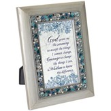 Serenity Prayer, Jeweled Silver Plaque